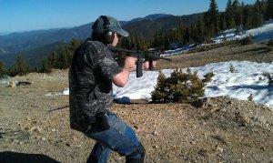 mark shooting at range